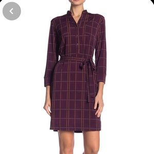 Nordstrom - MJ Plaid Waist Tie Dress